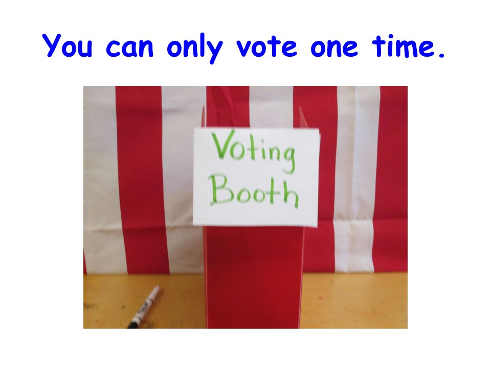 You can only vote one time.