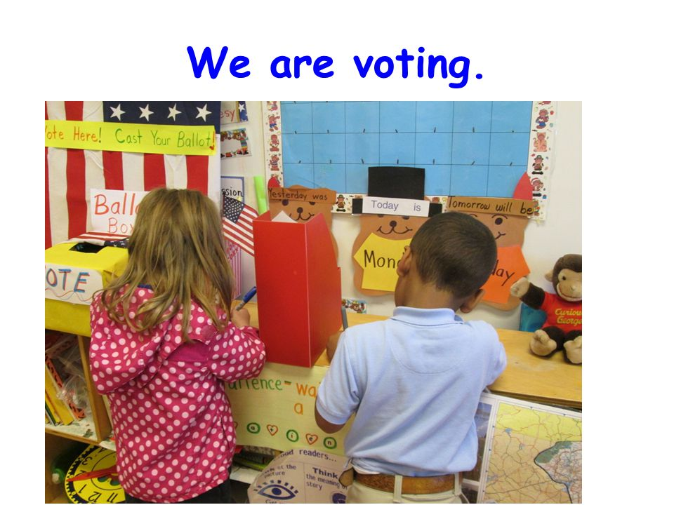 We are voting.
