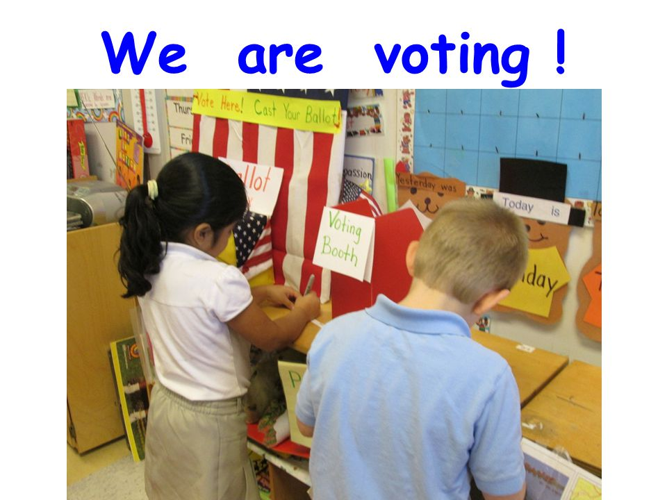 We are voting !