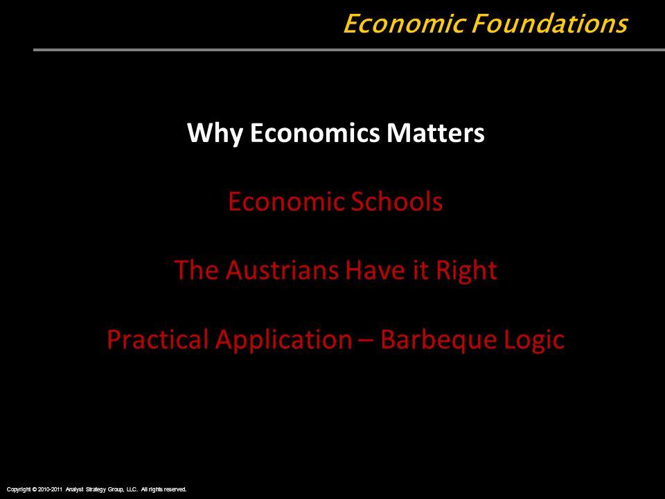 Why Economics Matters Economic Schools The Austrians Have it Right Practical Application – Barbeque Logic Economic Foundations