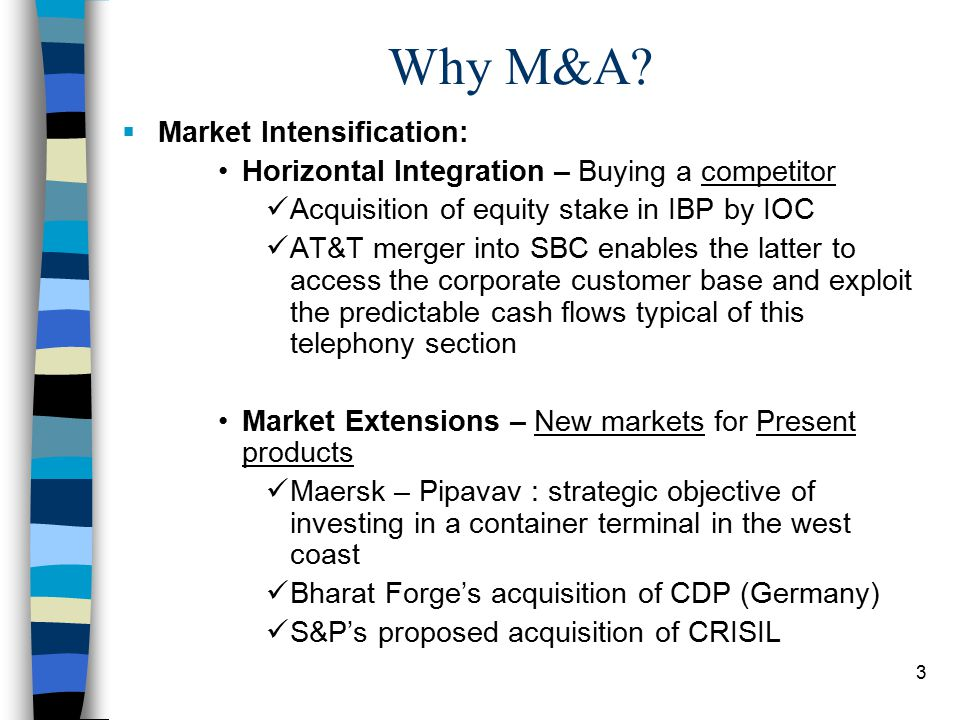 3 Why M&A.
