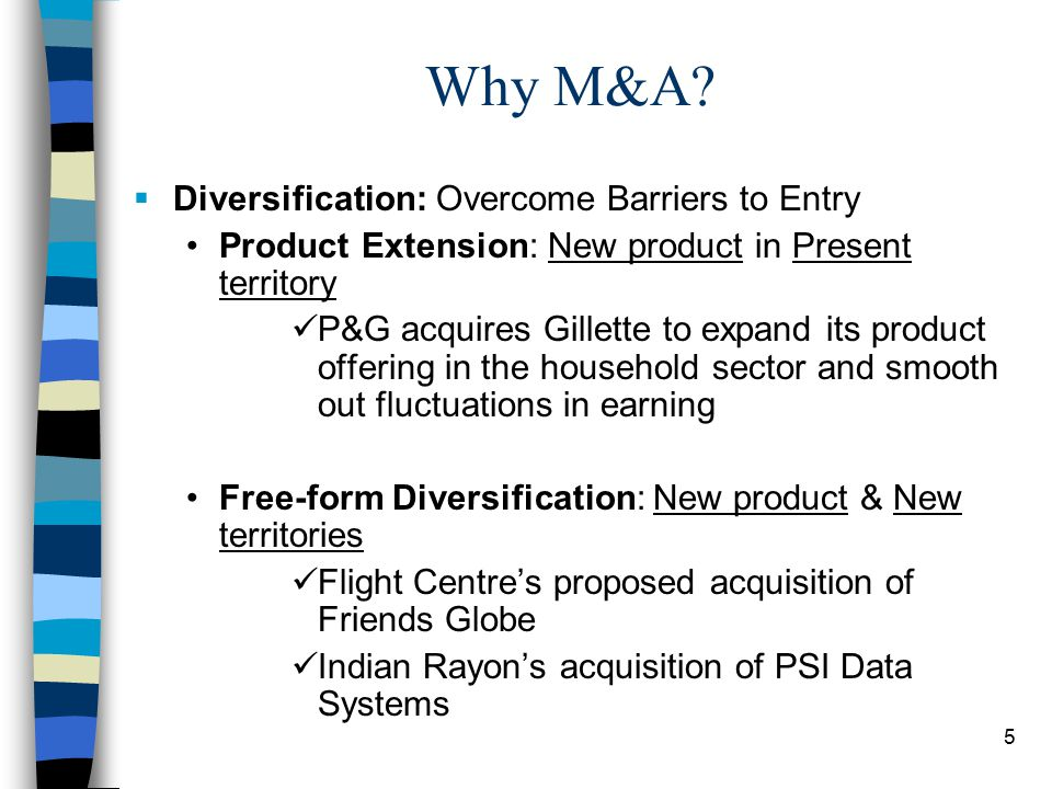 5 Why M&A.