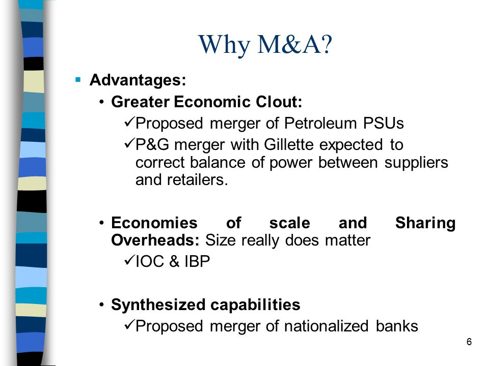 6 Why M&A.