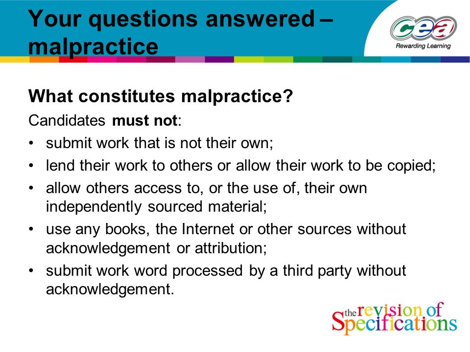 Your questions answered – malpractice What constitutes malpractice.