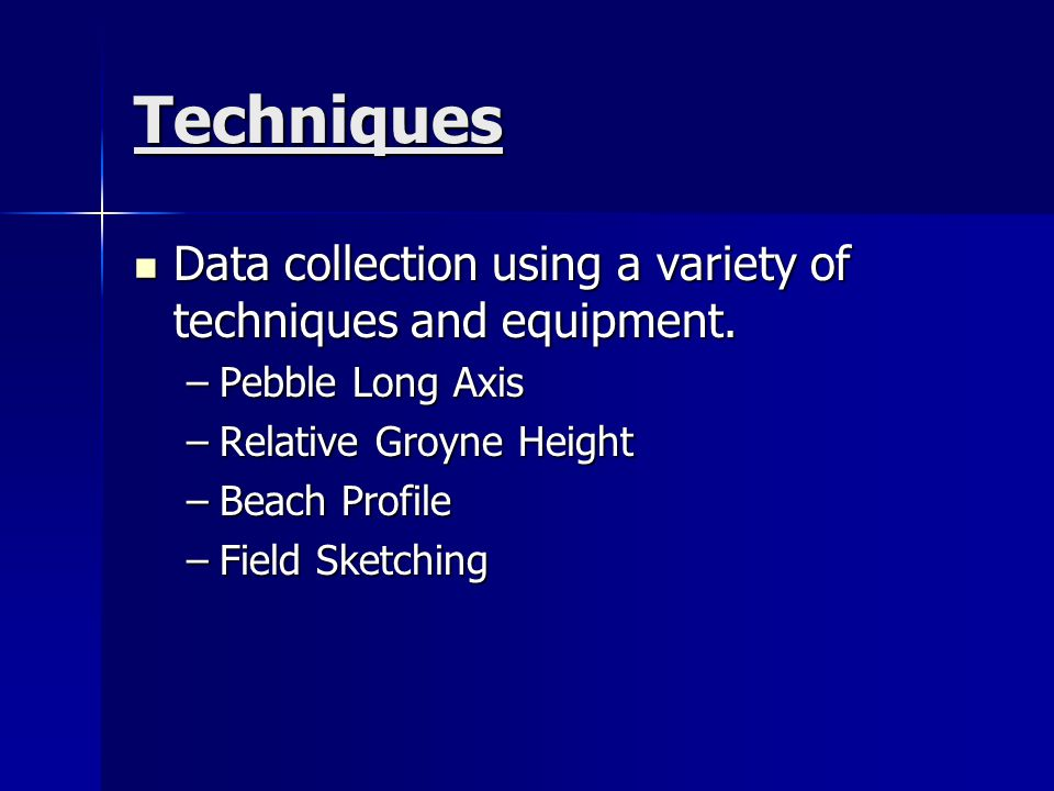 Presentation Present the collected data using a variety of methods including ICT.