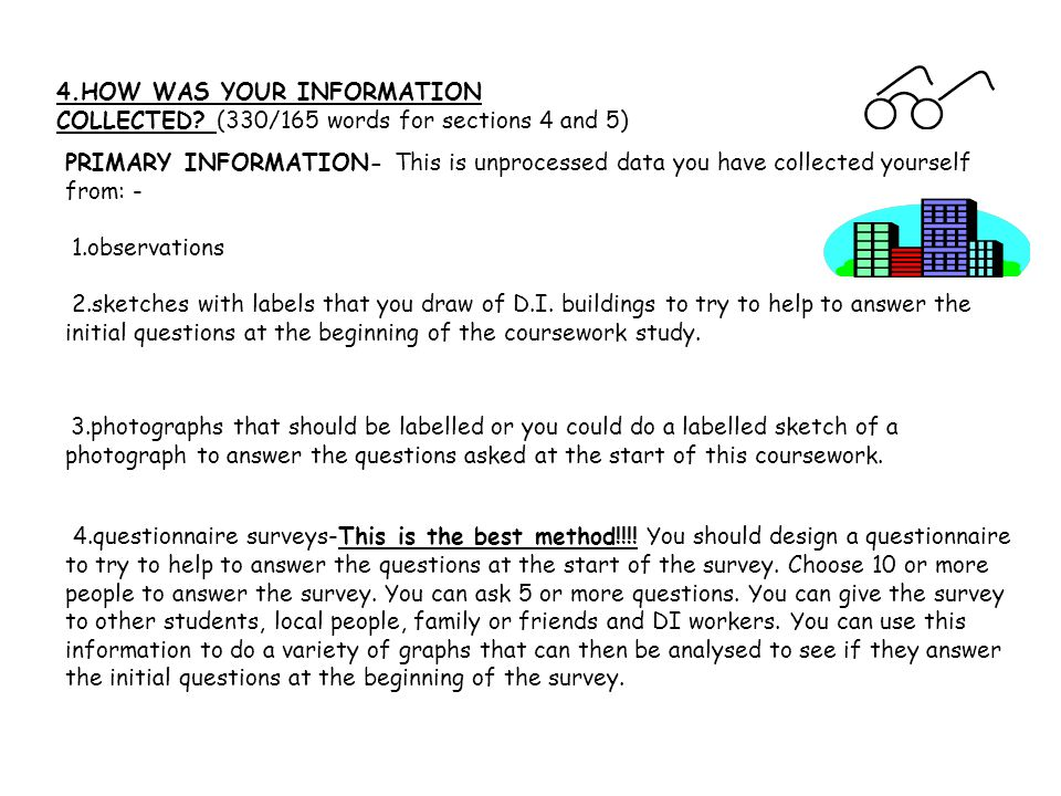 4.HOW WAS YOUR INFORMATION COLLECTED.