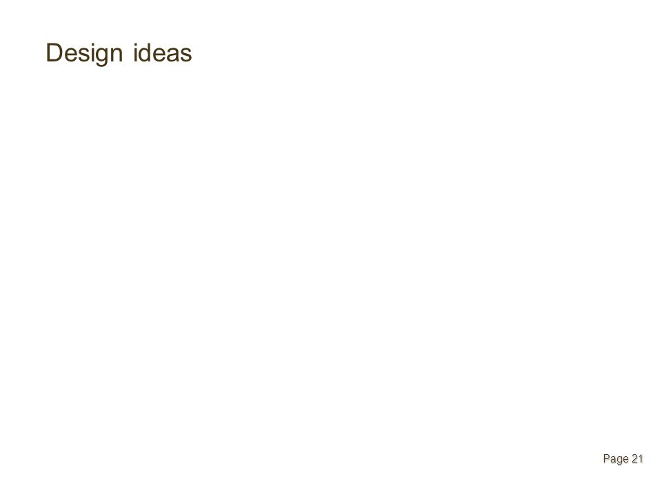 Design ideas Page 21