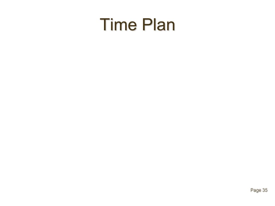 Time Plan Page 35