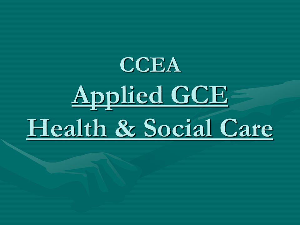 CCEA Applied GCE Health & Social Care