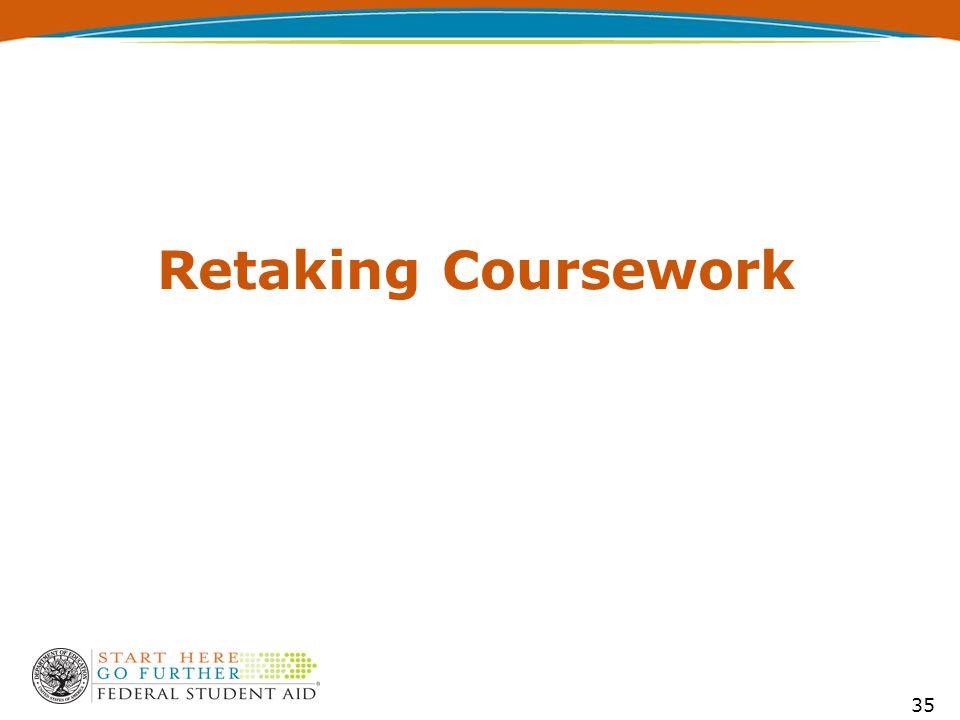 Retaking Coursework 35