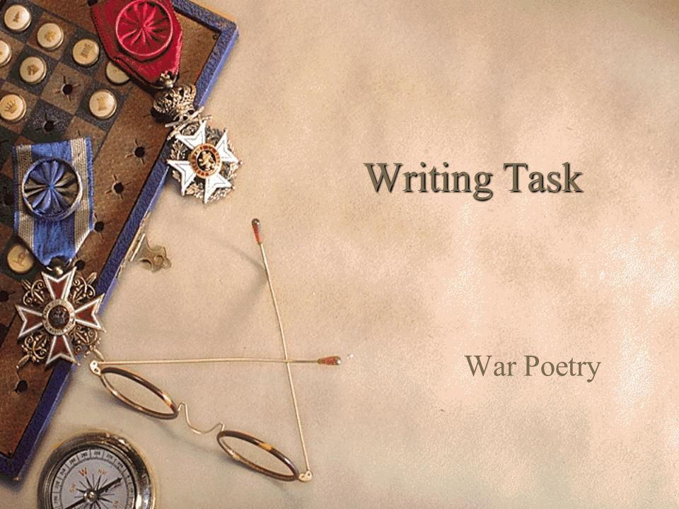 Writing Task War Poetry