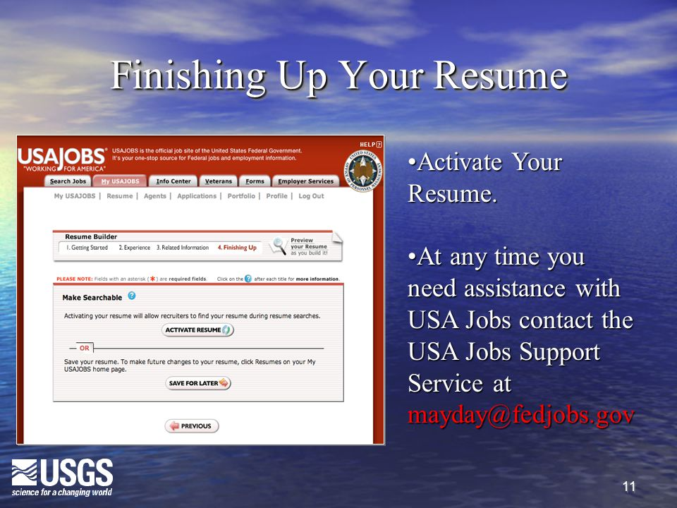 11 Finishing Up Your Resume Activate Your Resume.Activate Your Resume.