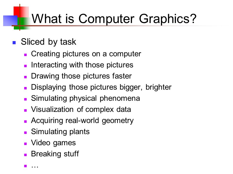 What is Computer Graphics.