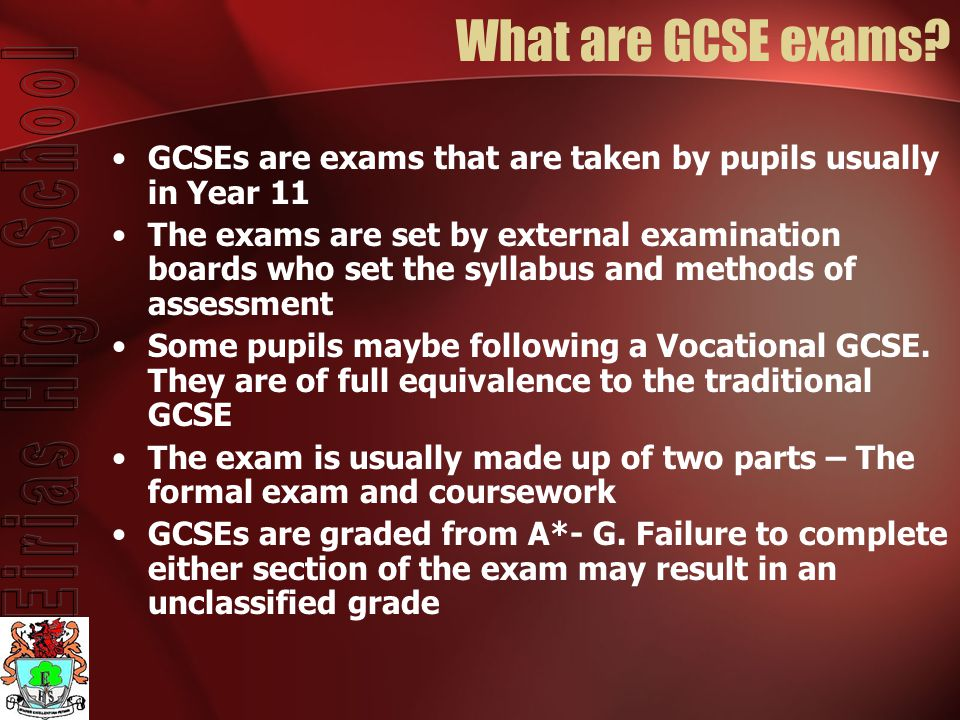 What are GCSE exams.