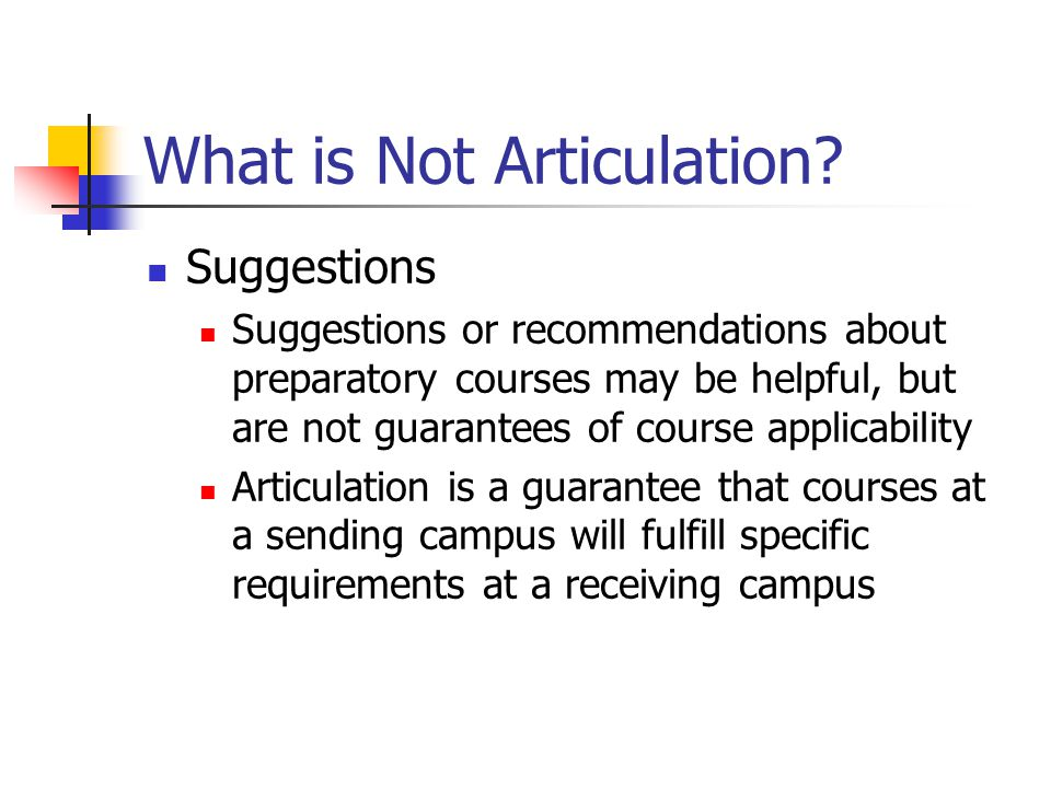 What is Not Articulation.