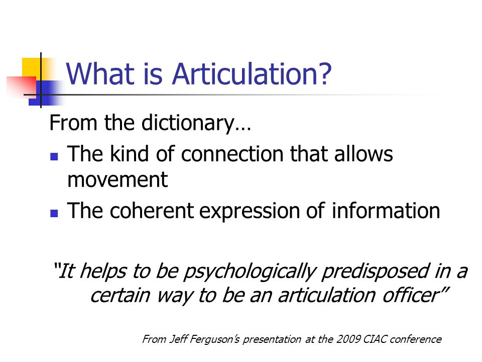 What is Articulation.
