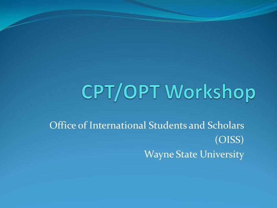 Office of International Students and Scholars (OISS) Wayne State University