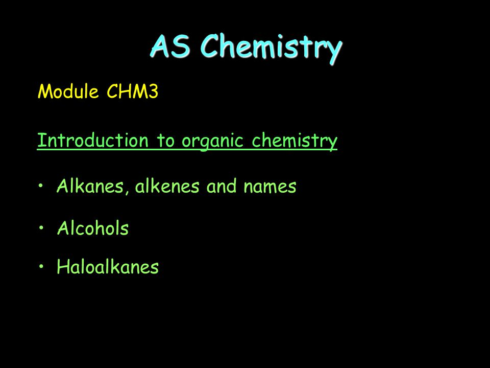 AS Chemistry Module CHM2 Foundation physical and inorganic chemistry Changing reaction rates Group 7 – the halogens Metal extraction