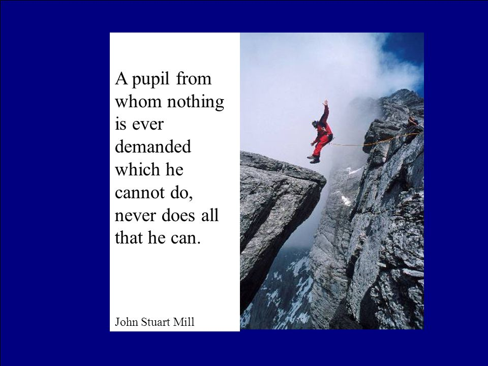 A pupil from whom nothing is ever demanded which he cannot do, never does all that he can.