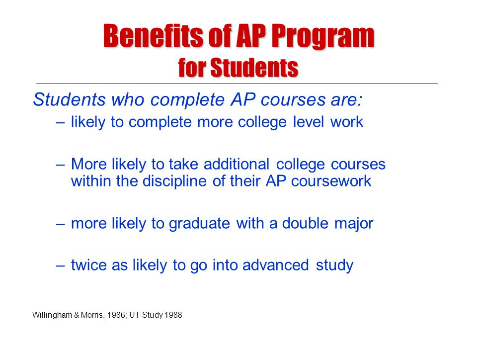 Build a pre-AP program that: Building a Successful Advanced Placement Program Provides for the development of the skills and concepts necessary to a student to be successful in AP Provides more students the opportunity to prepare for more challenging courses while there is still time to make a difference Has a positive impact on teaching and learning for all students