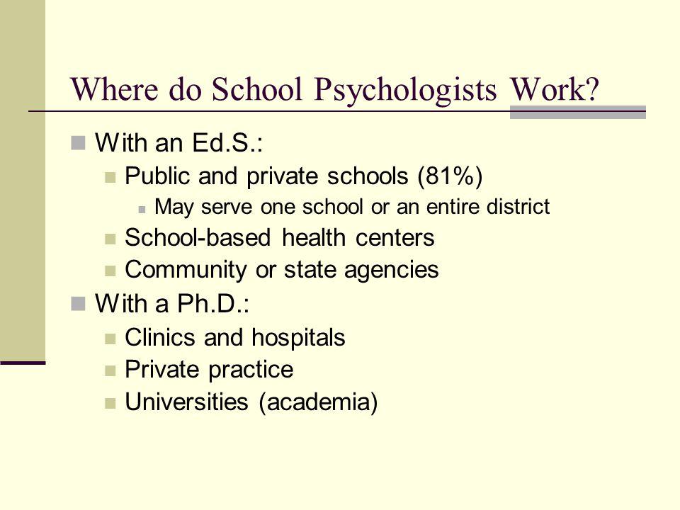 Where do School Psychologists Work.