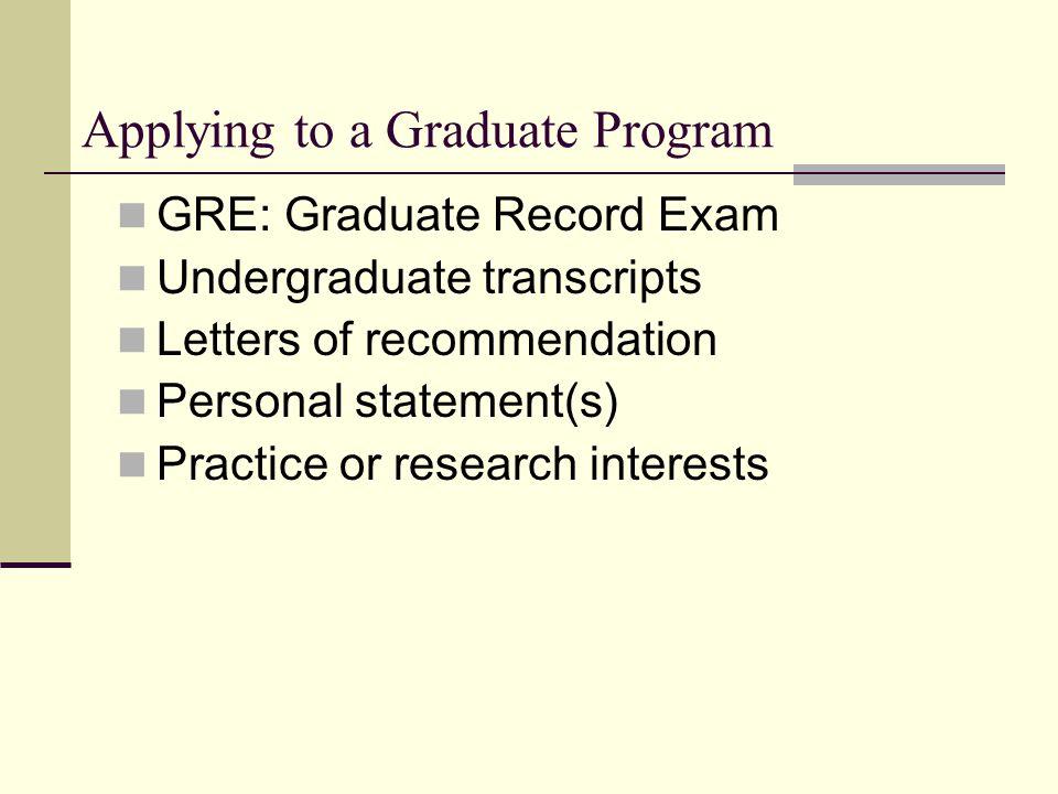 Postgraduate personal statement