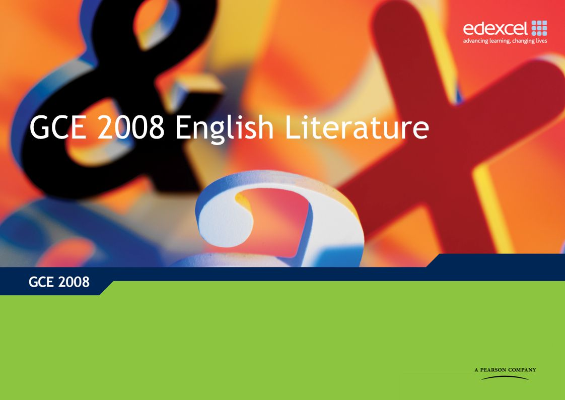 GCE English Literature: Key features of the QCA subject criteria Minimum of six texts at AS and a further six texts at A level At least one play by Shakespeare Work by at least one author writing between 1300 and 1800 At least one work first published or performed after 1990 At AS, work by at least one author published between 1800 and 1945.