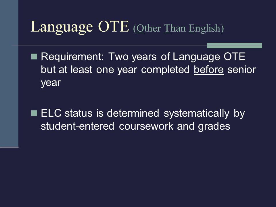 Student FAQs If designated as ELC what do students need to do to complete eligibility.