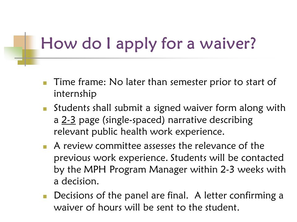 How do I apply for a waiver.