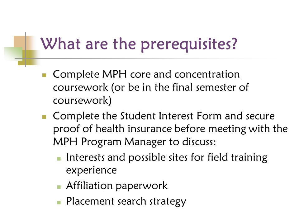 What are the prerequisites.