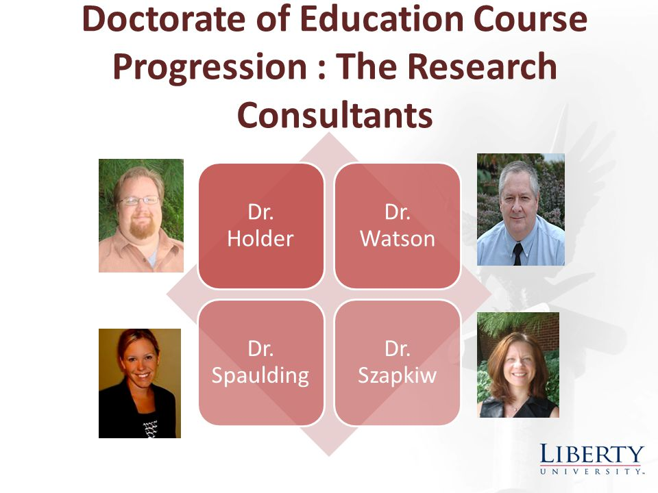 Doctorate of Education Course Progression: Coursework Key Points Coursework provides an opportunity for you to identify an appropriate topic for the dissertation, – Course papers and presentations may provide the impetus for the topic.