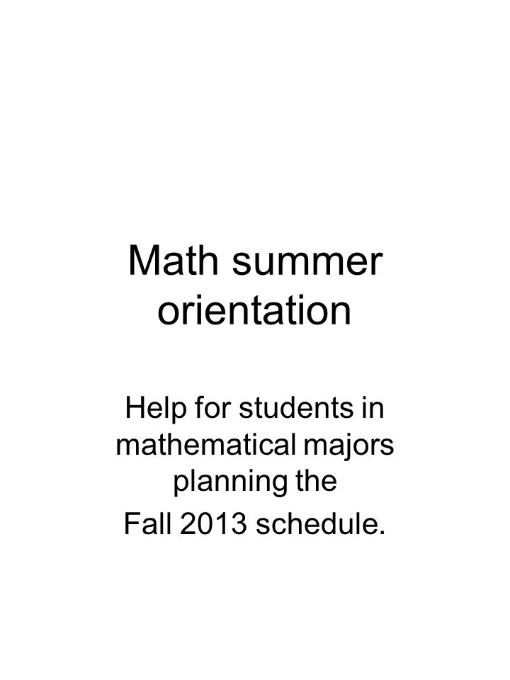 Schedule You must register for 12-18 hours.14-16 is recommended for your first semester.