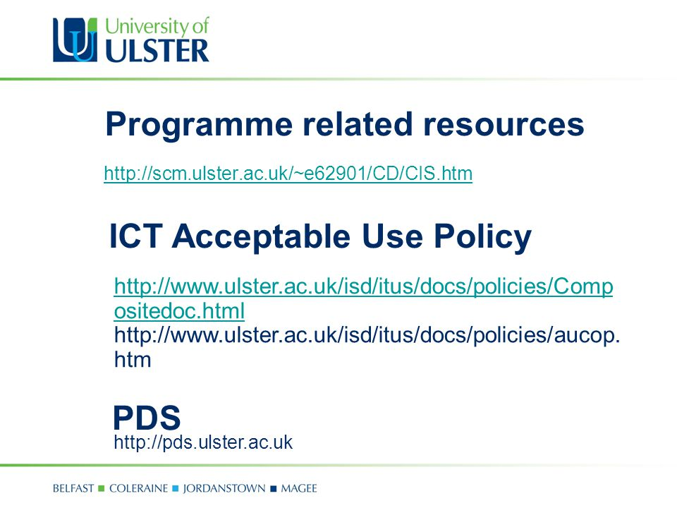 Programme related resources   ICT Acceptable Use Policy   ositedoc.html   ositedoc.html