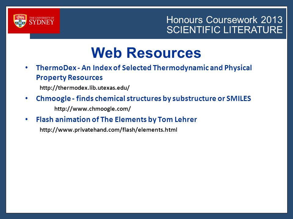 Honours Coursework 2011 SCIENTIFIC LITERATURE Honours Coursework 2013 SCIENTIFIC LITERATURE Verbs (http://writingcenter.unc.edu/resources/handouts-demos/citation/style) Problem: Nominalization—making verbs and adjectives into nouns.