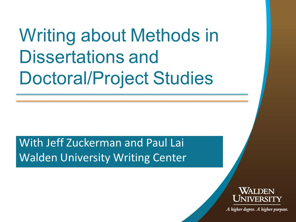 Session objectives Learn basics of presentation of the methods section (EdD/DBA) or chapter (PhD) Learn writing tips and university resources to use in researching and writing your proposal