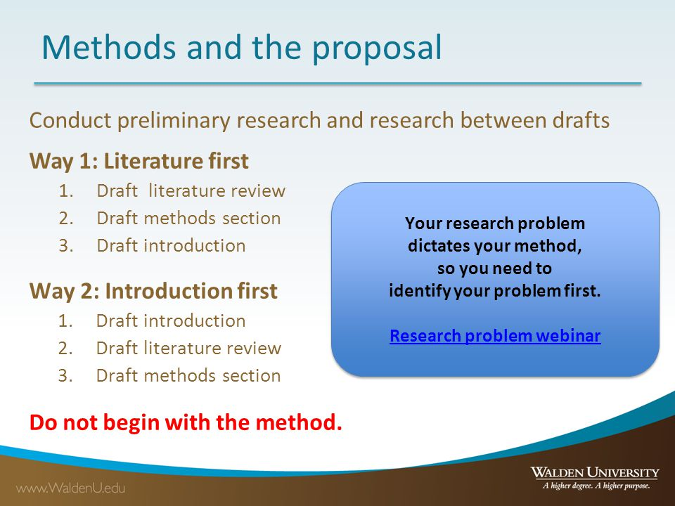 Methods Your Objectives