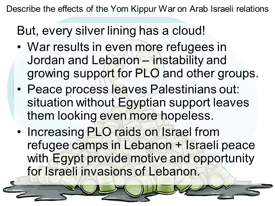 Describe the effects of the Yom Kippur War on Arab Israeli relations But, every silver lining has a cloud! War results in even more refugees in Jordan