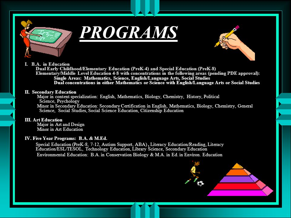 PROGRAMS I. B.A.