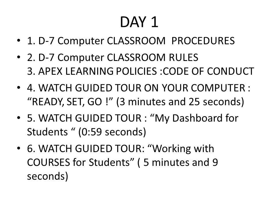 Foothill High School INDEPENDENT STUDY PROGRAM 2014-15 APEX SIGNATURE PAGE I have read the online APEX CODE OF CONDUCT and understand all APEX LEARNING rules.