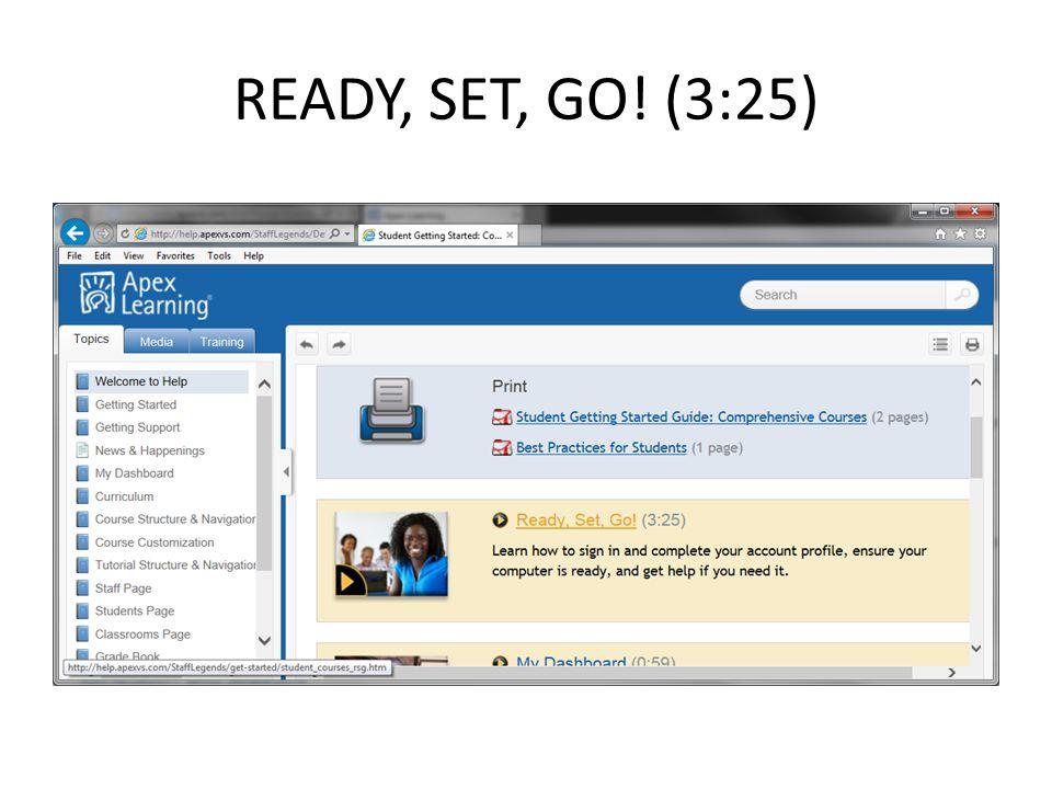 READY, SET, GO! (3:25)