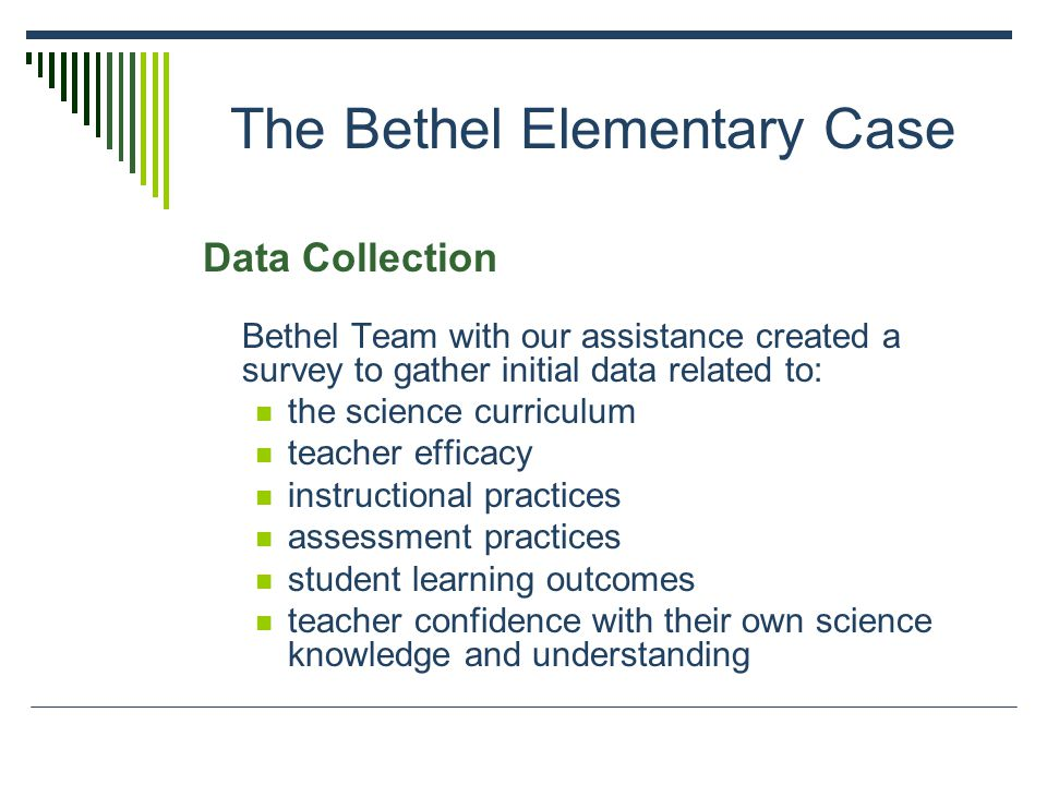 Data Analysis 1.Teachers were not comfortable with using the FOSS kits.