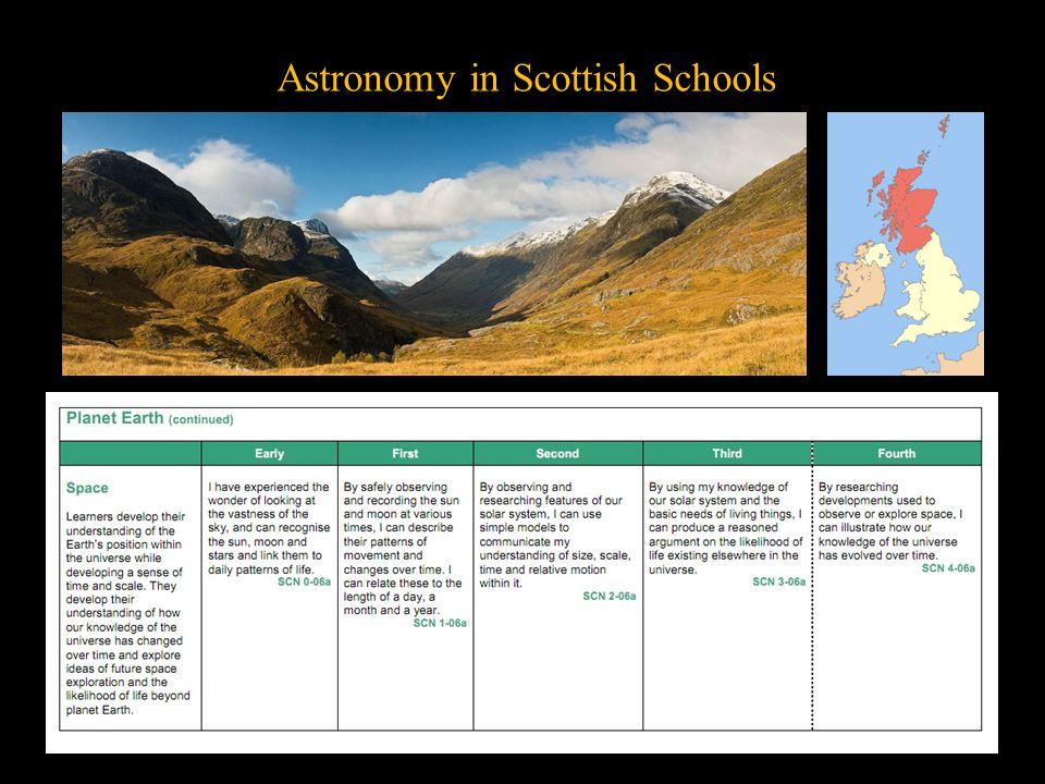 Astronomy in Scottish Schools