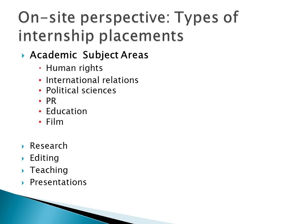  Academic Subject Areas  Human rights International relations Political sciences PR Education Film  Research  Editing  Teaching  Presentations