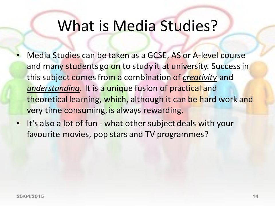 What is Media Studies.