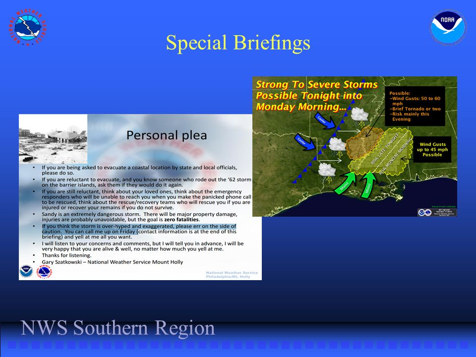 NWS Southern Region Special Briefings