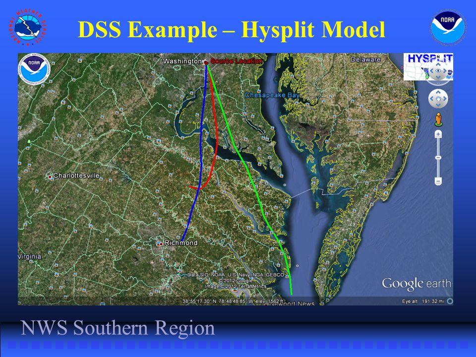 NWS Southern Region DSS Example – Hysplit Model