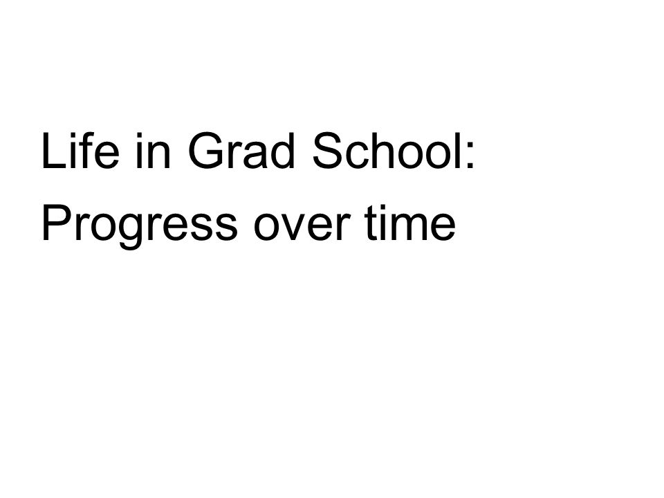 Life in Grad School: Progress over time