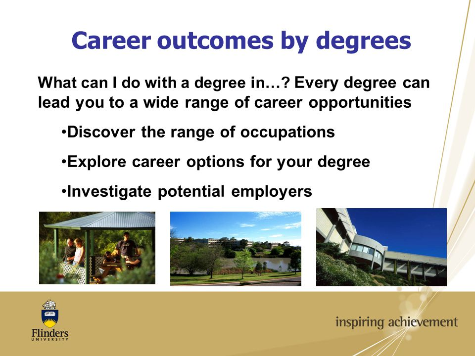 Career outcomes by degrees What can I do with a degree in….