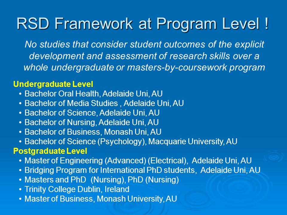 RSD Framework at Program Level .