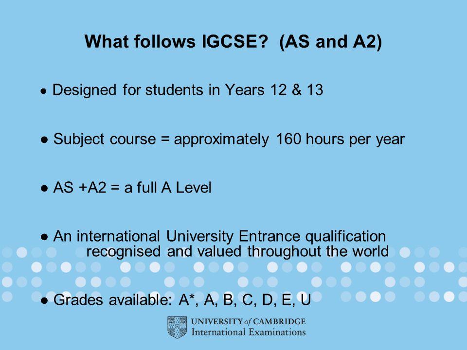 What follows IGCSE.